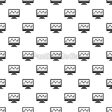 graph in computer screen pattern simple