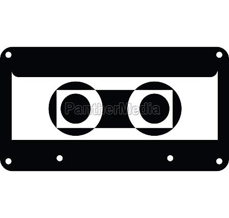 cassette icon simple style