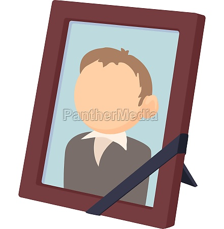 memory portrait icon cartoon style
