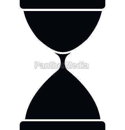sandglass icon simple style