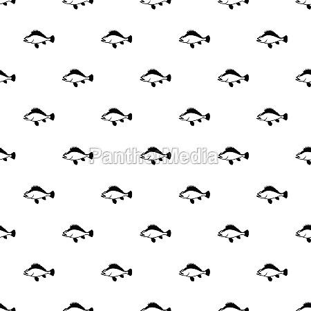 ruff fish pattern simple style