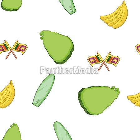 sri lanka pattern cartoon style