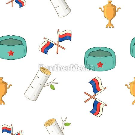russia pattern cartoon style