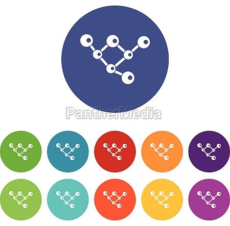 molecule structure set icons