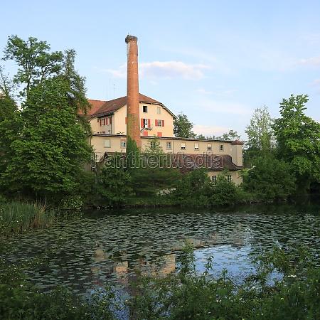 schoenau old factory in wetzikon zurich