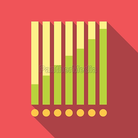 chart graph icon flat style
