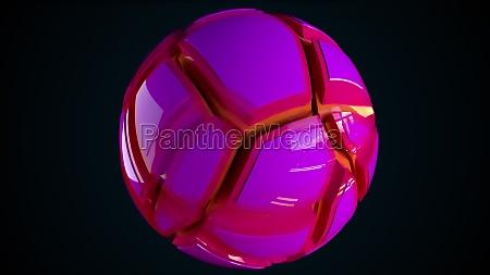 colorful sphere broken into pieces