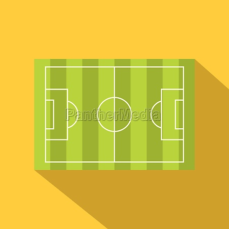 football or soccer field icon flat