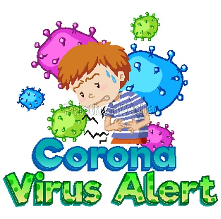 font design for word coronavirus alert