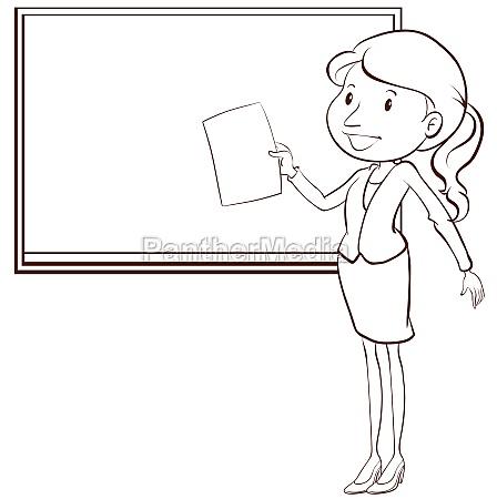 a plain sketch of a teacher