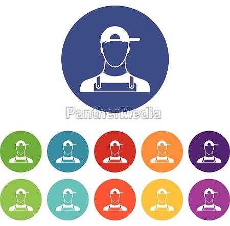 plumber set icons
