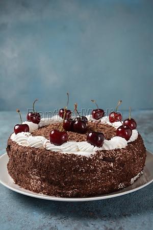 black forest cake schwarzwald pie dark