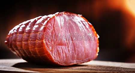 piece of smoked ham meatworks product