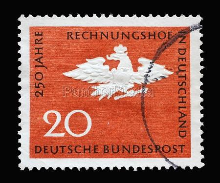 stamp printed in germany honoring 250th