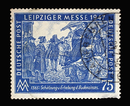stamp printed in germany american british