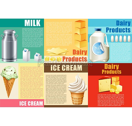 infographic with dairy products and text