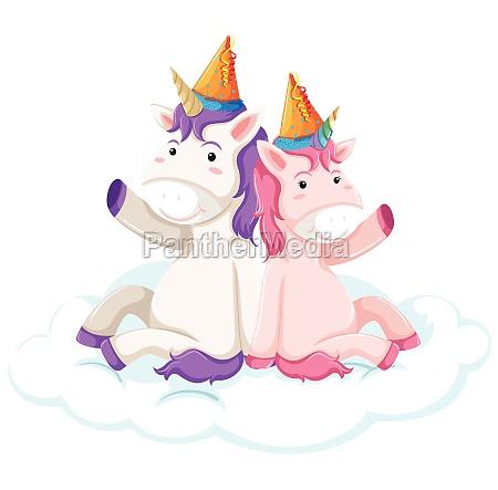 unicorn character on white background