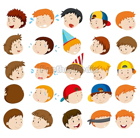 facial expressions of boys