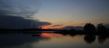 sunset view from auslikon wetzikon bright
