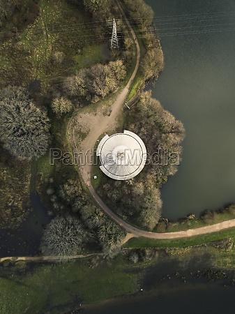 aerial view of testwood lakes plumbing
