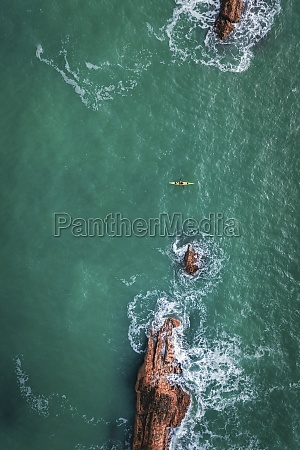 aerial view of a person doing