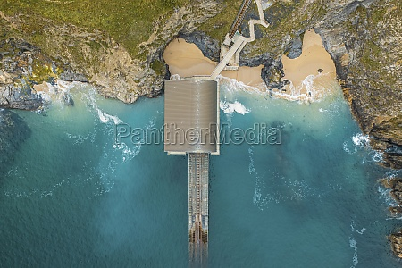 aerial view of padstow lifeboat station