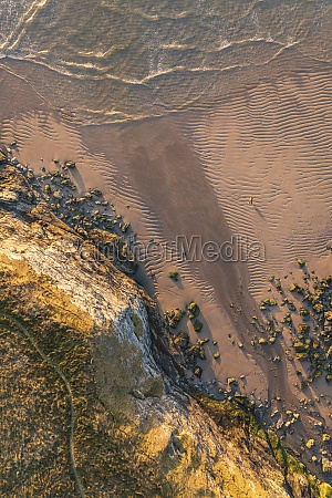 aerial view of holywell bay at