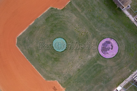 aerial view of a baseball field