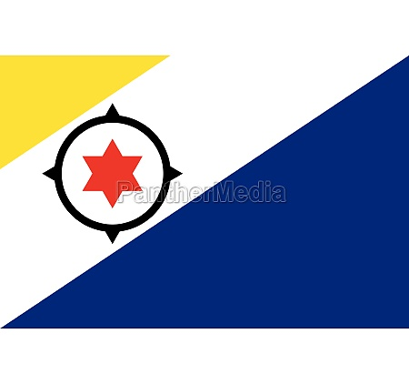 bonaire island of netherlands officially flag