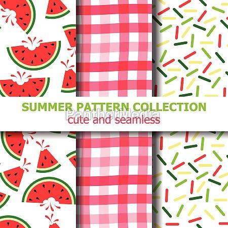 summer pattern collection watermelon theme summer