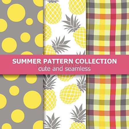 exotic summer pattern collection pineapple theme