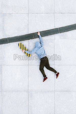 aerial view of creative illusion of