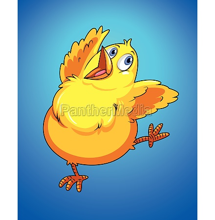 happy chick dancing alone