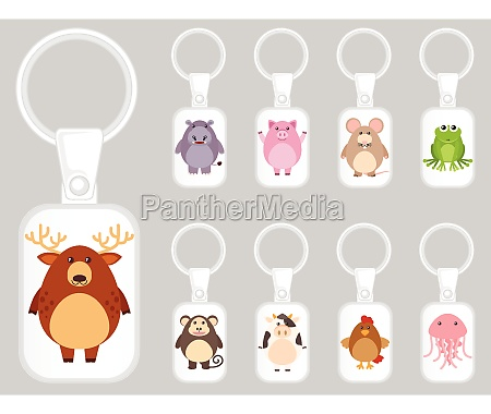 keychain template design with many kinds