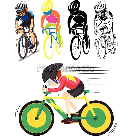 sport icon for man doing cycling