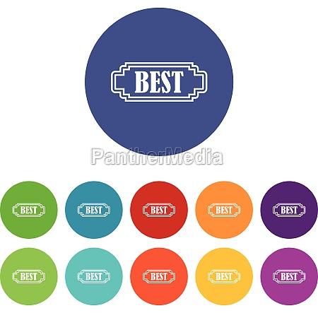 best rectangle label set icons