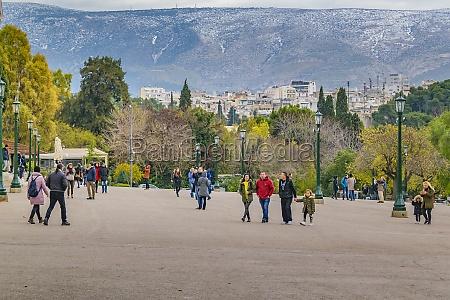 national garden esplanade athens greece