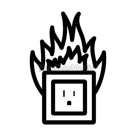 electric outlet fire icon