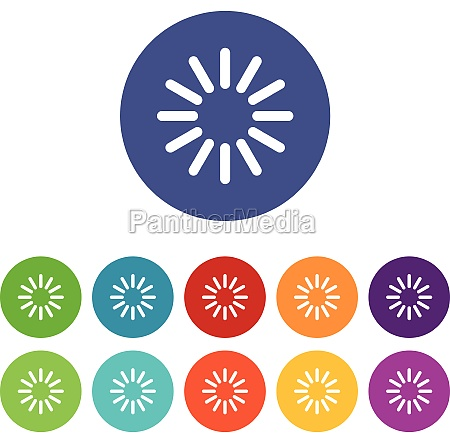 sign waiting download set icons