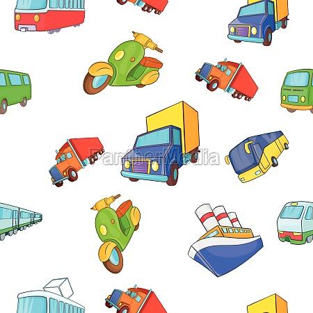transport pattern cartoon style