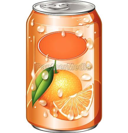orange juice in can