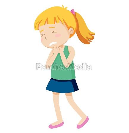 a, girl, wtih, sore, throat - 30252838