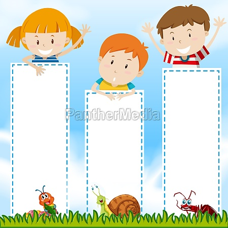 border template with kids in the