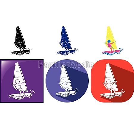 sport icon design for sailing