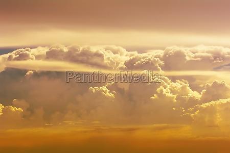 golden cloudy sky