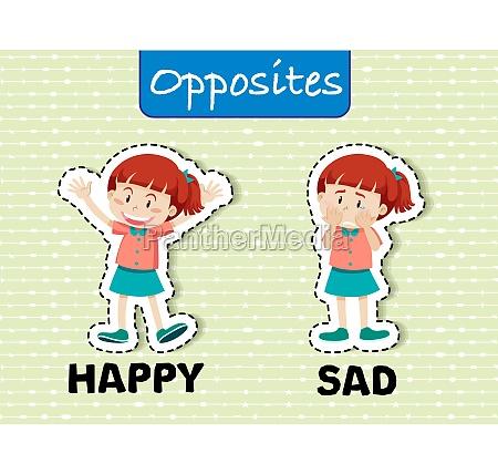 opposite word happy and sad
