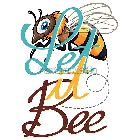 cute little bee flying