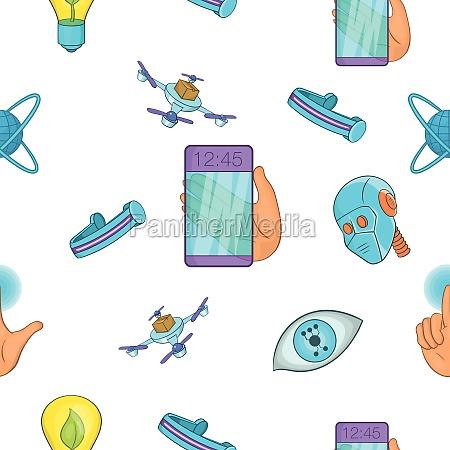 innovation pattern cartoon style