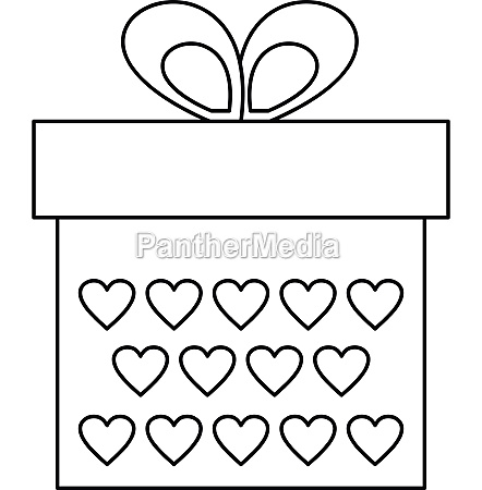 gift box icon outline style