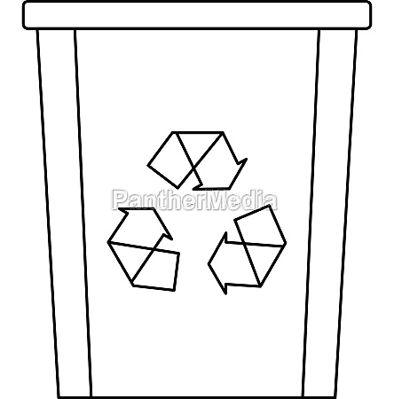 recycle bin icon outline style